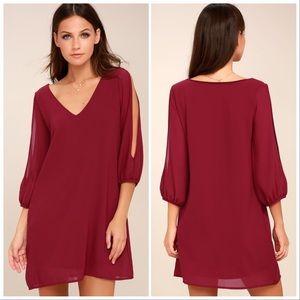 Lulus Shifting Dears Dress in Wine Women's XS